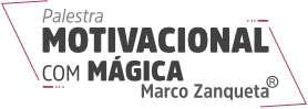 Logo Palestra Motivacional com Mágica Marco Zanqueta